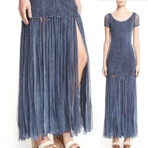 FUZZI Fringe Trim Tulle Gown size M but  like XS